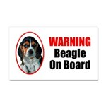 Beagle On Board Car Magnet 20 X 12