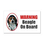 Beagle On Board Car Magnet 20 X 12