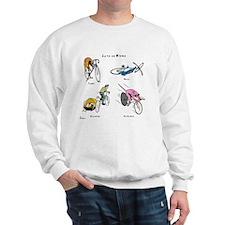 Cats on Bikes Sweatshirt