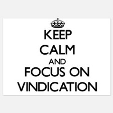 Keep Calm by focusing on Vindication Invitations