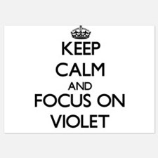 Keep Calm by focusing on Violet Invitations