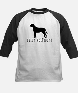 Irish Wolfhound w/ Text #2 Kids Baseball Jersey