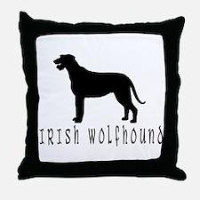 Irish Wolfhound w/ Text #2 Throw Pillow