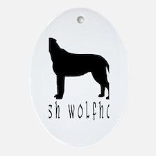 Irish Wolfhound w/ Text #2 Oval Ornament