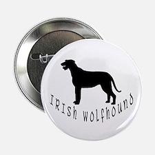 Irish Wolfhound w/ Text #2 Button