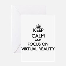 Keep Calm by focusing on Virtual Re Greeting Cards