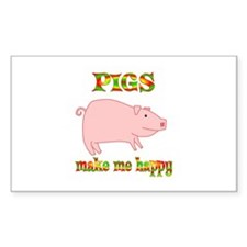 Pigs Make Me Happy Decal