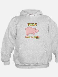 Pigs Make Me Happy Hoodie