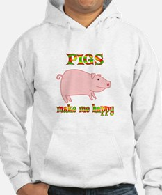 Pigs Make Me Happy Hoodie
