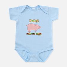 Pigs Make Me Happy Infant Bodysuit