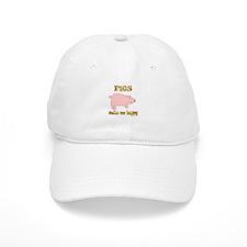 Pigs Make Me Happy Baseball Cap