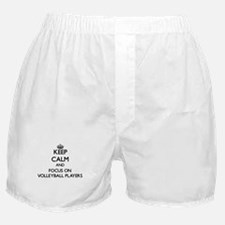 Keep Calm by focusing on Volleyball P Boxer Shorts
