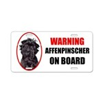 Affenpinscher On Board Aluminum License Plate