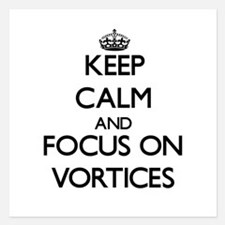Keep Calm by focusing on Vortices Invitations