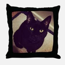 Cute Halloween cat Throw Pillow