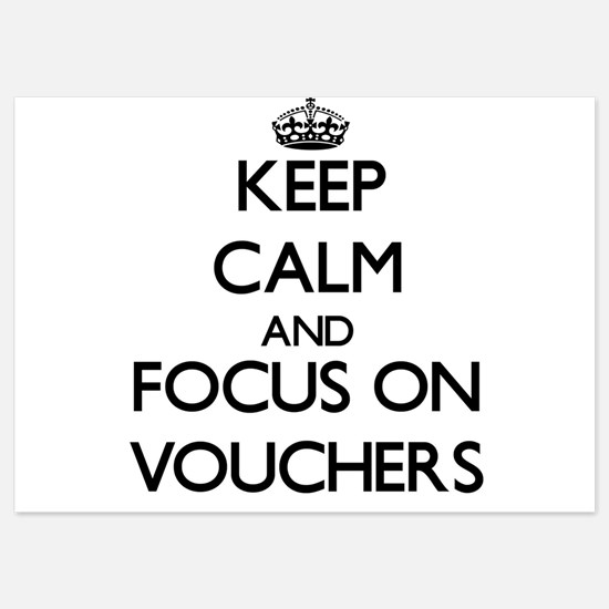 Keep Calm by focusing on Vouchers Invitations