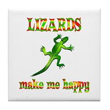 Lizards Make Me Happy Tile Coaster