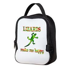 Lizards Make Me Happy Neoprene Lunch Bag