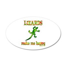Lizards Make Me Happy Wall Decal