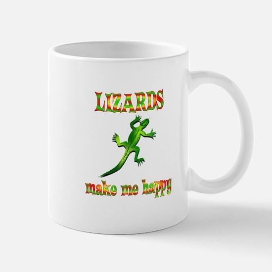 Lizards Make Me Happy Mug