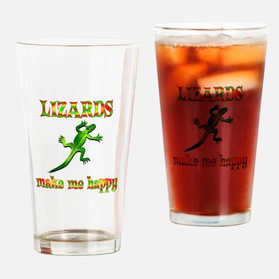 Lizards Make Me Happy Drinking Glass