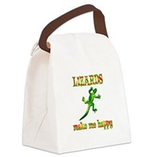 Lizards Make Me Happy Canvas Lunch Bag