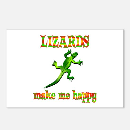 Lizards Make Me Happy Postcards (Package of 8)
