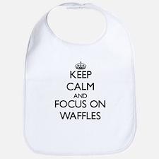 Keep Calm by focusing on Waffles Bib