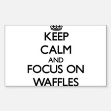 Keep Calm by focusing on Waffles Decal