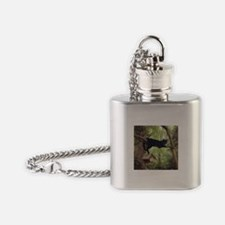 Cute Black cat Flask Necklace