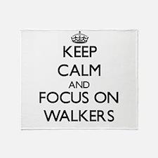 Keep Calm by focusing on Walkers Throw Blanket