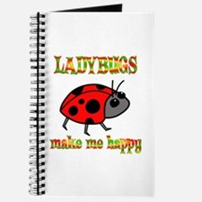 Ladybugs Make Me Happy Journal