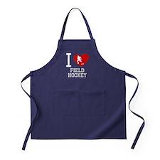 I Heart Field Hockey Apron (dark)