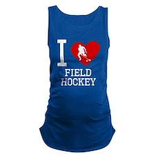 I Heart Field Hockey Maternity Tank Top