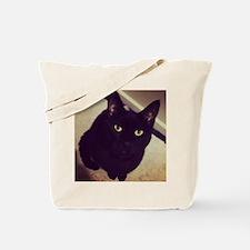 Black Cat Watching You Tote Bag