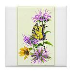 Bergamot & Butterfly Tile Coaster