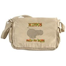 Hippos Make Me Happy Messenger Bag