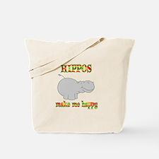 Hippos Make Me Happy Tote Bag