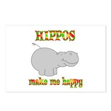 Hippos Make Me Happy Postcards (Package of 8)