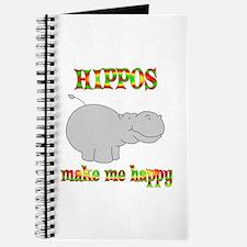 Hippos Make Me Happy Journal