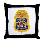 Border Patrol Air Ops Throw Pillow