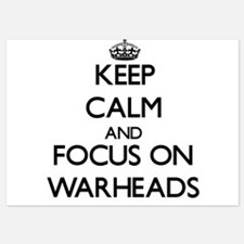 Keep Calm by focusing on Warheads Invitations