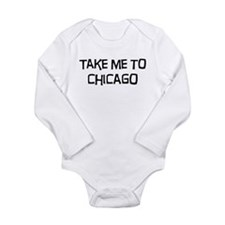 Cute Chicago Long Sleeve Infant Bodysuit