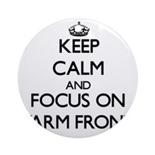 Keep Calm by focusing on Warm Fro Ornament (Round)