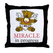 Boy Bear Miracle Throw Pillow