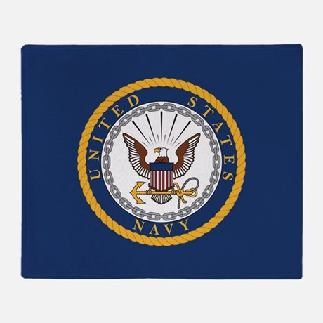 U.S. Navy Emblem Throw Blanket
