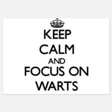 Keep Calm by focusing on Warts Invitations