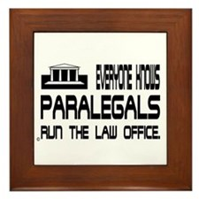 Cute Paralegal Framed Tile