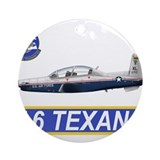 Navy flight Round Ornaments