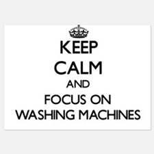 Keep Calm by focusing on Washing Machi Invitations